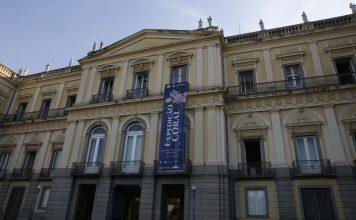 Fachada do Museu Nacional , na Quinta da Boa Vista.